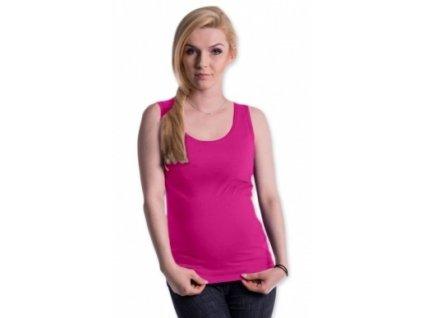 Be MaaMaa Těhotenské,kojící tilko s odnimatelnými ramínky - růžové (Velikosti těh moda S/M)