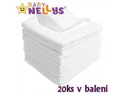 904614 kvalitni bavlnene pleny baby nellys tetra basic 80x80cm 20ks v bal