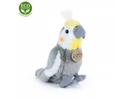 904542 plysovy papousek korela chocholata 20cm eco friendly