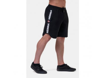 Pánské šortky Legend - Approved Black - NEBBIA (velikost M, barva černá)