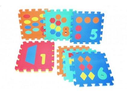 907419 penove puzzle pocitani tvary 30x30cm 10ks v sacku