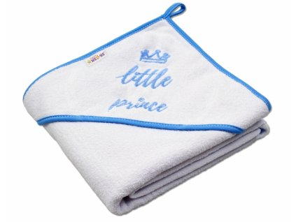 927282 baby nellys detska termoosuska little prince s kapuci 80 x 80 cm bila modry lem