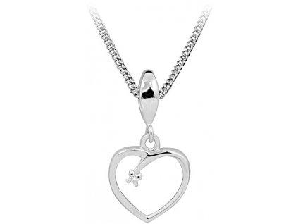 939672 art diamond stribrny nahrdelnik s diamantem dags806 50 retizek priivesek