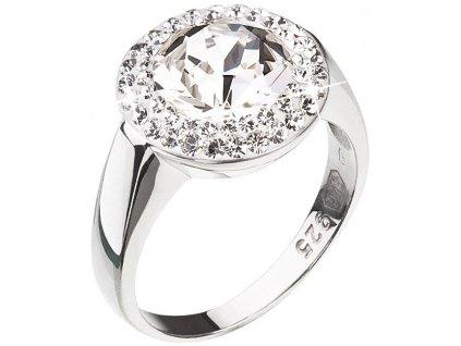 Evolution Group Stříbrný prsten se třpytivým krystalem Swarovski 35026.1 (Obvod 56 mm)