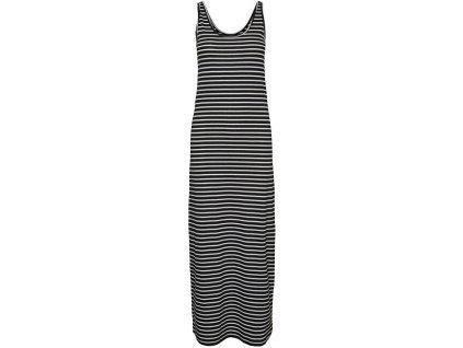 VERO MODA Dámské šaty VMNANNA 10233347 Black SNOW WHITE (velikost M)