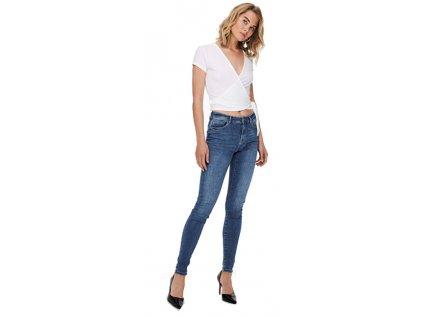 ONLY Dámské džíny ONLPUSH SHAPE LIFE Skinny Fit 15235025 Medium Blue Denim (velikost 27/30)
