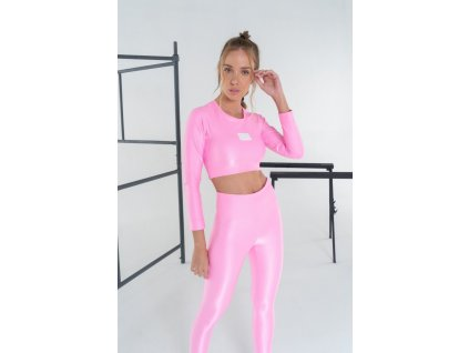 Sportovní Crop Top Essentials Pink - LABELLAMAFIA (velikost XS)