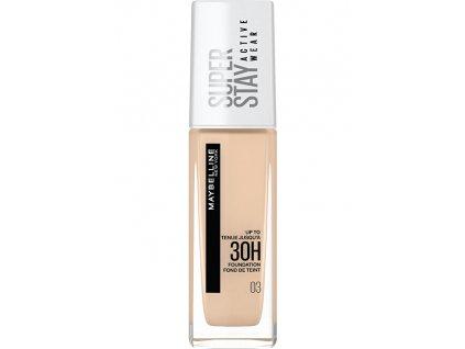 Maybelline Dlouhotrvající vysoce krycí make-up SuperStay Active Wear 30 ml (Odstín 03 True Ivory)