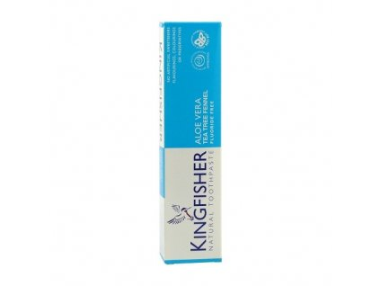 994125 zubni pasta kingfisher aloe tea tree fenykl 100 ml