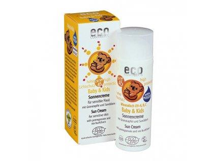 1010307 eco cosmetics baby detsky opalovaci krem spf 45 bio 50 ml