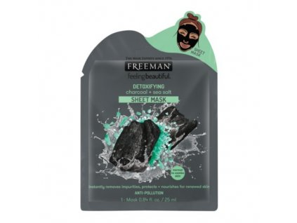 1010763 freeman detoxikacni latkova maska aktivni uhli a morska sul detoxifying sheer mask 25 ml