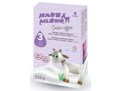 1000575 goldim nase mleko 3 batol vyziva z koziho mleka 12 m 525 g