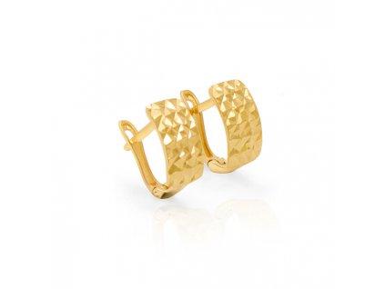 1018881 beneto exclusive zlate ozdobne nausnice aup0007 g 0130