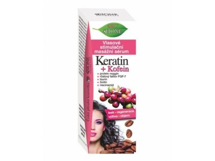 1038729 bione cosmetics vlasove stimulacni masazni serum keratin kofein 215 ml