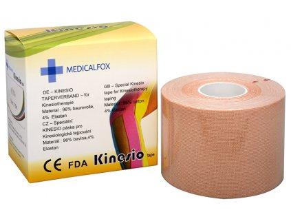 Medicalfox Tejpovací páska Kinezio 5 cm x 5 m (Varianta Červená)
