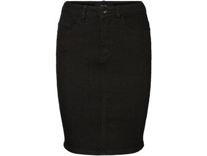 VERO MODA Dámská sukně VMHOT NINE 10193076 Black (velikost S)