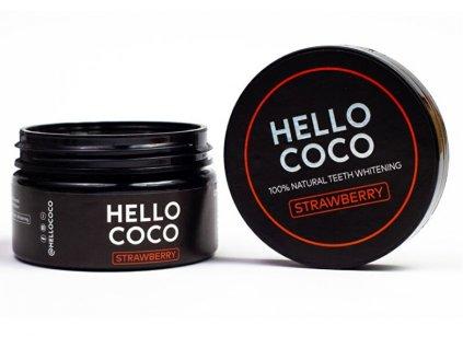 1042749 hello coco aktivni uhli na beleni zubu s prichuti jahody 100 natural teeth whitening strawberry 30 g