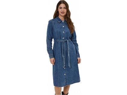 Dámské šaty VMPINA 10256355 Medium Blue Denim (velikost L)