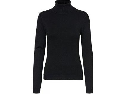 VERO MODA Dámské triko VMGLORY Regular Fit 10231630 Black (velikost L)