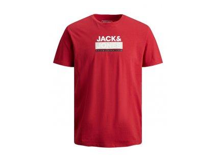 Jack&Jones Pánské triko JCODELFIELD Regular Fit 12198089 Ribbon Red (velikost L)