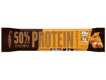 50% LEADER Protein BAR - 55g (Varianta caramel)