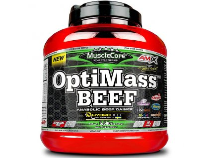 Amix MuscleCore DW - OptiMass Beef 2500g with HYDROBEEF (Příchuť Delicate Forest Fruits)