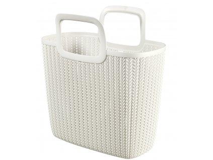 44207 1 curver knit nakupni taska bila
