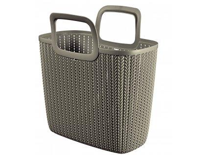 44201 1 curver knit nakupni taska hneda