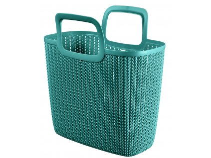 44204 curver knit nakupni taska modra