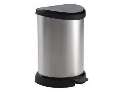 44021 1 curver odpadkovy kos deco bin stribrny 20l