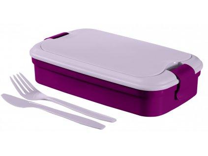 43547 curver picnic box lunch go fialovy