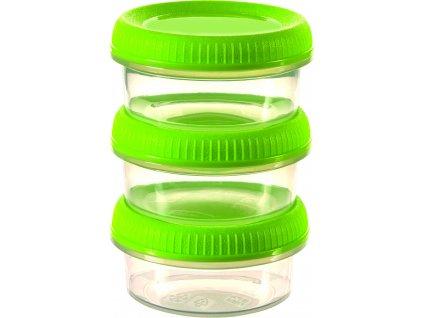 39260 1 curver set 3 misticek smart to go zelene