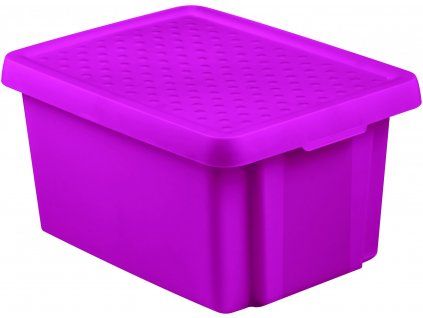 103079 curver ulozny box essentials 16l s vikem fialovy
