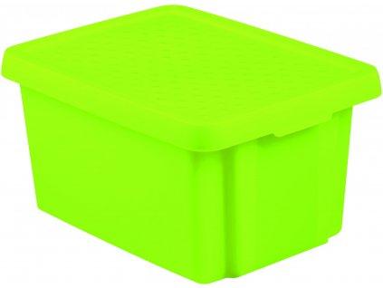 43271 1 curver ulozny box essentials 16l s vikem zeleny