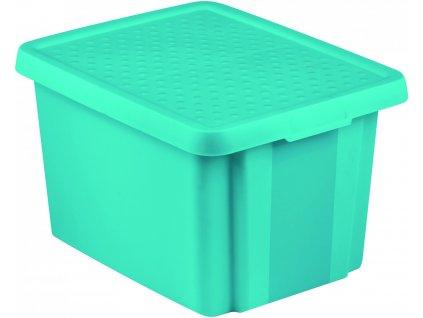 43244 1 curver ulozny box essentials 26l s vikem modry