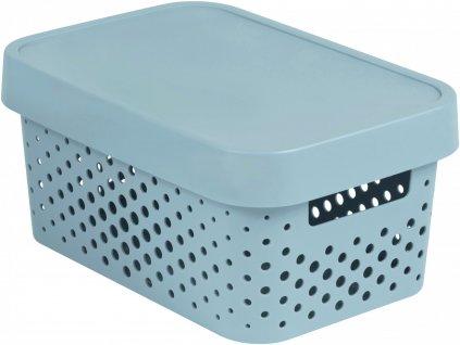 43025 curver ulozny box infinity 4 5l s vikem sedy putniky