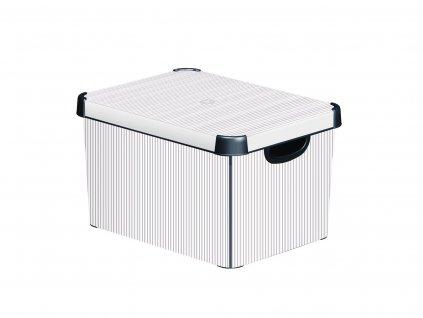 43181 1 curver ulozny box classico sedy bily velikost l