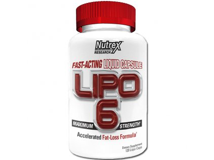 Nutrex Lipo 6 White 120 cps - Výprodej (Příchuť Nutrex Lipo 6 White 120 cps exp. 08/2019)