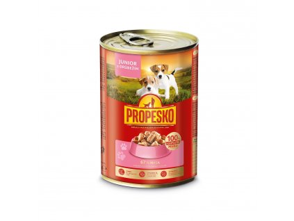 194027 propesko dog junior drubezi kousky 415 g