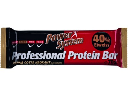 197384 1 power system professional protein bar 40 panna cotta brittle 70g