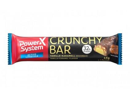 197372 power system crunchy bar 32 vanilla with crunchy caramel 45g