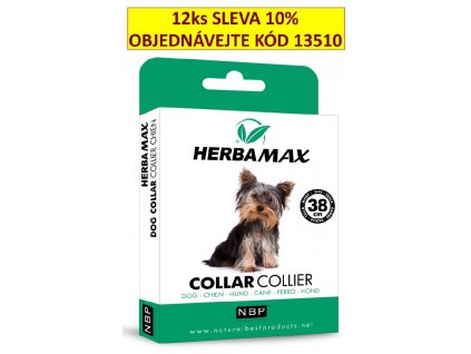 215357 herba max collar dog antiparazitni obojek 38 cm