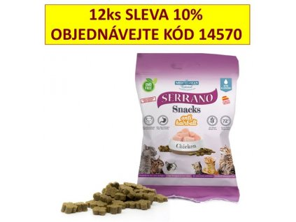 216689 serrano snack for cat antihairball chicken 50 g