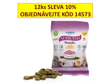 216698 serrano snack for cat sardine antihairball 50g 14197