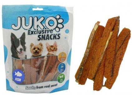 213977 1 juko snacks salmon strip with fish skin 250 g