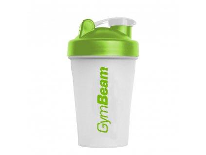 Šejkr Blend Bottle průsvitně-zelený 400 ml - GymBeam (Balení (ml) 400 ml, barva transparentní zelená - bílá)