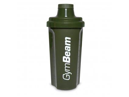 Šejkr olivově zelený 500 ml - GymBeam (barva zelená, Balení (ml) 500 ml)