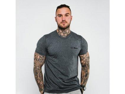 Tričko Basic Dark Grey - GymBeam (velikost S, barva šedá)