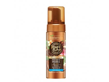 711512 bielenda samoopalovaci bronzujici pena pro svetlou plet magic bronze bronzing body foam 150 ml