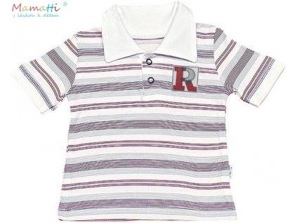 Polo tričko kr.rukáv Mamatti - Písmenka (Velikost koj oblečení 68 (3-6m))